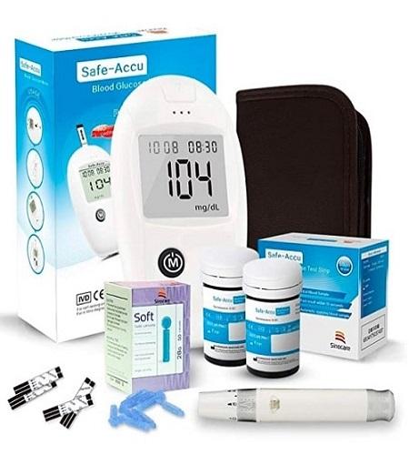 medidor de glucosa kit de safe accu